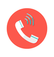 Headphone Call Circle Flat Icon vector image vector image