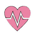 heart beat healthy sport care symbol vector image vector image