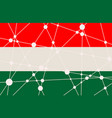 hungary flag concept vector image