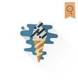 ice cream in a cone vector image vector image