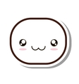 kawaii face emogy isolated icon vector image vector image