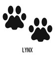lynx step icon simple style vector image vector image