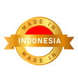 made in indonesia label stamp for product vector image