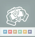mailbox on device vector image vector image