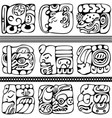 mayan glyphs set vector image vector image