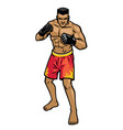 mma fighter stance vector image vector image