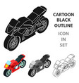 motorcycle icon in cartoon style isolated on white vector image vector image