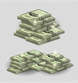 much money with shining elements - realistic money vector image vector image