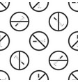 no smoking sign cigarette icon seamless pattern vector image vector image