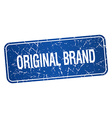 original brand blue square grunge textured vector image vector image