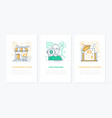 photo concept - line design style banners set vector image