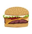 realistic hamburger classic burger american vector image vector image