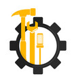repair and maintenance symbol vector image vector image