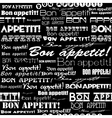 Seamless Bon appetit pattern vector image vector image