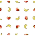 Seamless Pattern Strawberry Banana vector image vector image