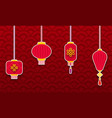 set chinese lanterns for happy new year eastern vector image vector image