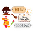 set greeting cards and posters happy fathers vector image