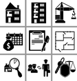 Set icon of real estate vector image vector image