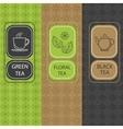 Set linear tea package brochures vector image vector image