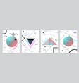 set of minimalist covers design with geometric vector image vector image