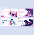 set web page design templates for beauty vector image vector image