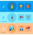 Smart House Polygonal Banners vector image vector image