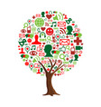 social network tree concept for online connection vector image
