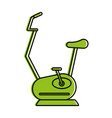 spinning or stationary bike fitness icon image vector image vector image