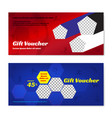 sport theme gift certificate voucher gift card vector image