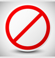 stop deny do not no entry sign vector image vector image