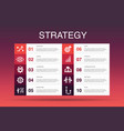 strategy infographic 10 option templategoal vector image vector image