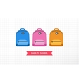 Student bag backpack colorful set of icons vector image vector image
