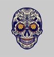 sugar skull dia de los muertos mexico vector image vector image