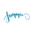 summer lettering isolated vector image