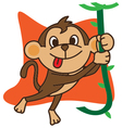Swing Monkey vector image