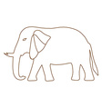Thai elephant freehand vector image