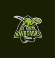 the emblem of an aggressive dinosaur sharp teeth vector image vector image