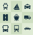 transportation icons set collection of cab vector image vector image