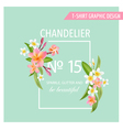 Tropical Flowers and Leaves Background Exotic Grap vector image vector image