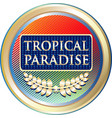 tropical paradise icon vector image vector image