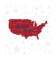 usa lettering with map vintage label badge with vector image vector image