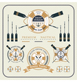 Vintage nautical lifebuoy and paddles label set vector image vector image