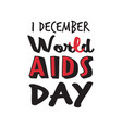 world aids day awareness red ribbon sign medical vector image
