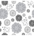 zinnia flowers-flowers in bloom seamless repeat vector image vector image