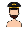 taxi driver shirtless with hat vector image