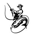 black fisherman vector image