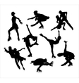 Figure skating silhouette vector image