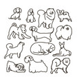 set with cute cartoon dos of different vector image