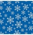 Snowflake winter pattern vector image