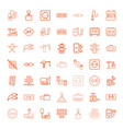 49 cable icons vector image vector image